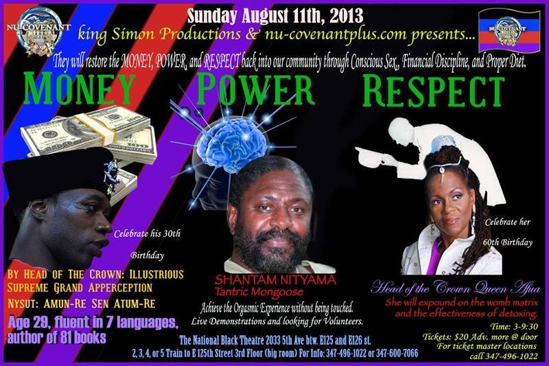 FLYER- QUEEN AFUA & POLITE at NBT 8.11.13-Host King Simon