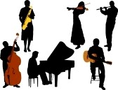 MUSICIANS- six in Silouette 1