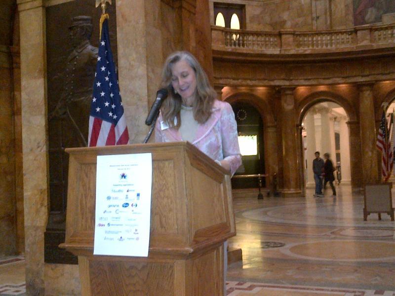 Blair Van Brunt at Mass State House