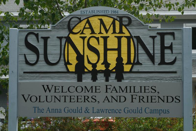 Camp Sunshine sign