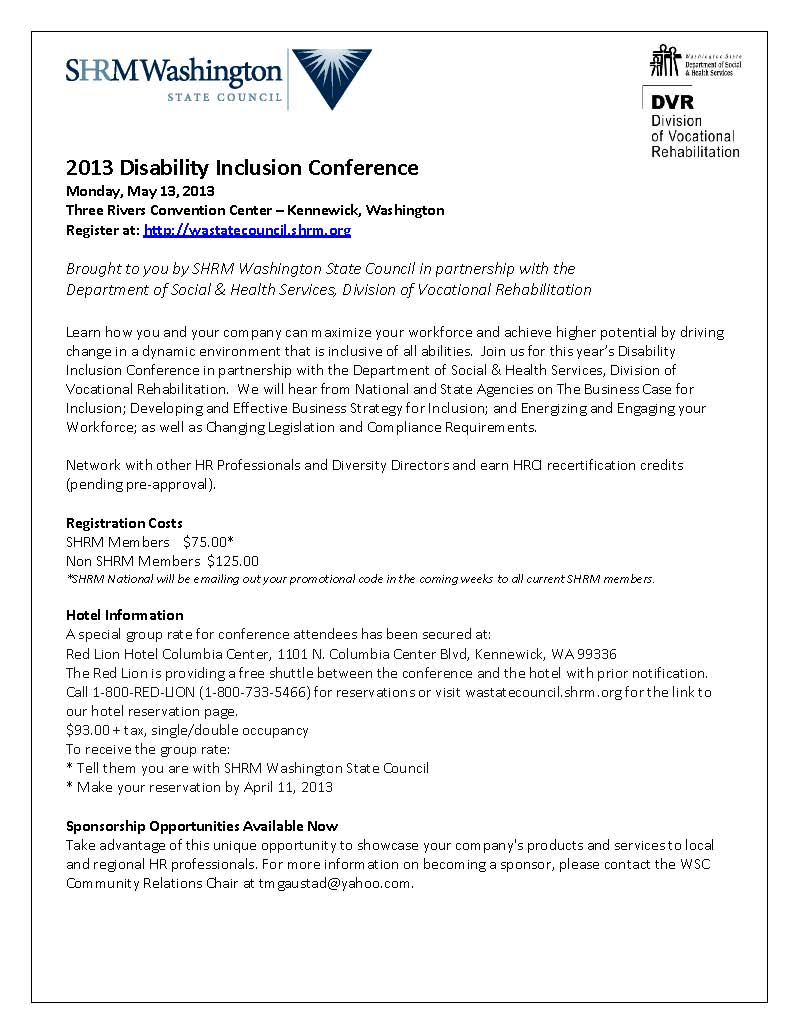 Disability Flyer