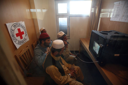 Videoconference in use in Afghanistan
