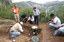 Accomarca district, Peru. Exhumation in progress.