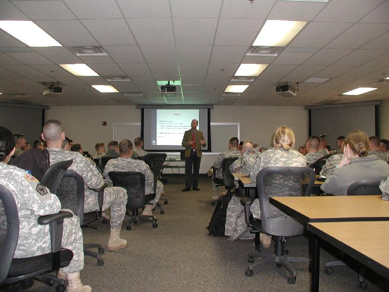 ICRC brief's U.S. Army's Captain's Course
