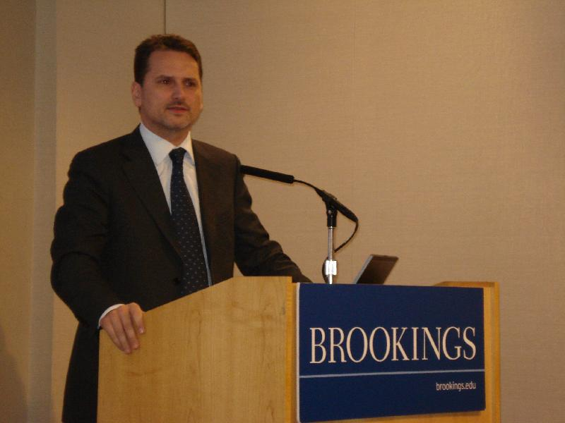 Pierre Krahenbuhl speaks at Brookings