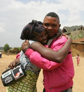 A family split up by the civil war in DRC is reunited.