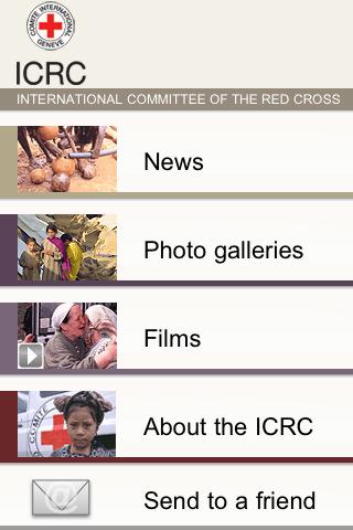 iPhone Screenshot: ICRC News