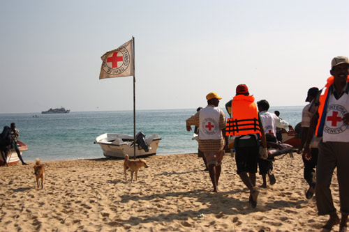 In 2009 the ICRC evacuated wounded and sick people in Sri Lanka.