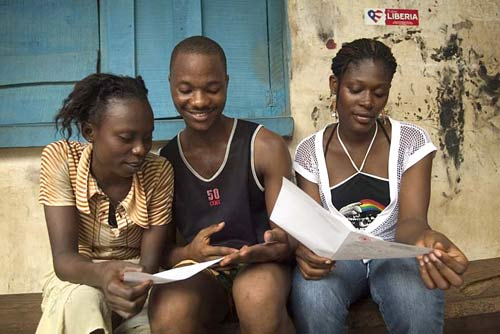 Young people in Liberia