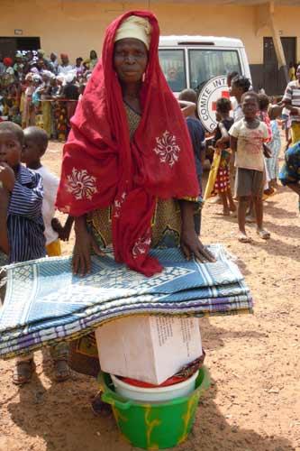 Ivorian Refugee in Refugee Camp.