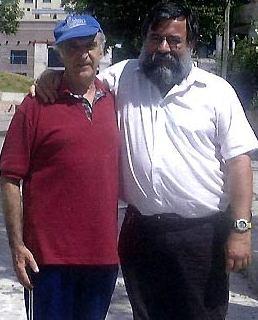 Hernan Reyes with former Uruguayan prisoner Mauricio Rosencof