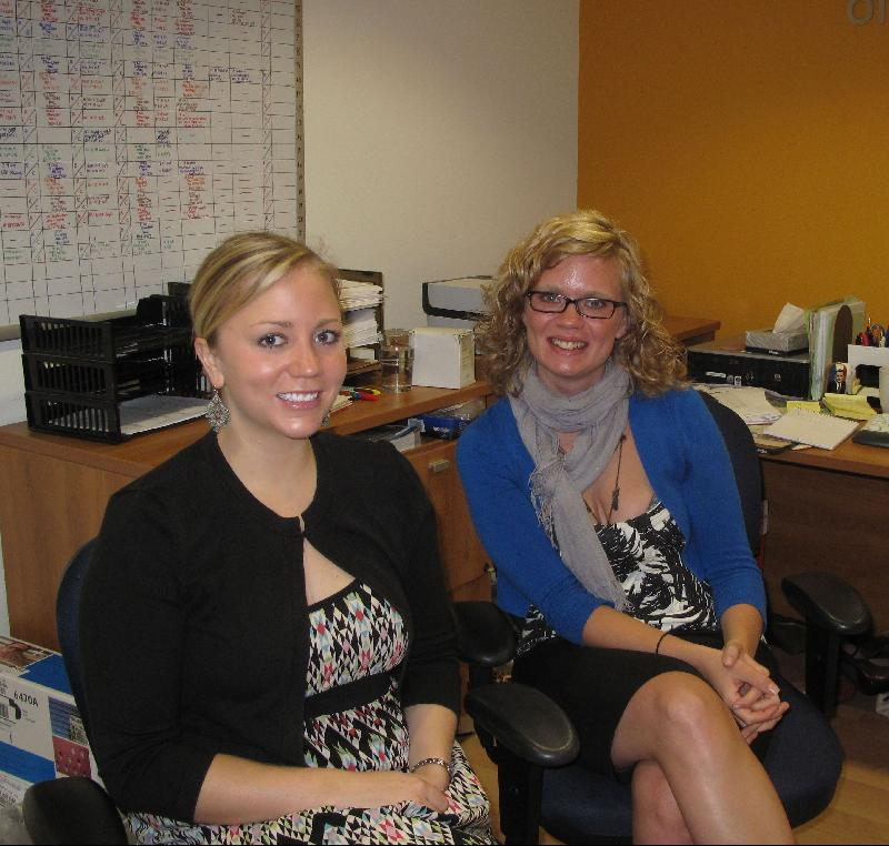 Welcome Department: Megan Selland and Clare Taylor