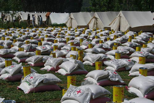 Distribution of food and other essential items to around 10,000 people