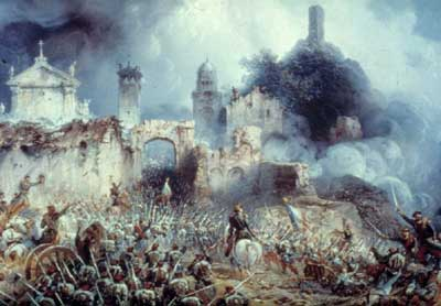 A painting of the Battle of Solferino