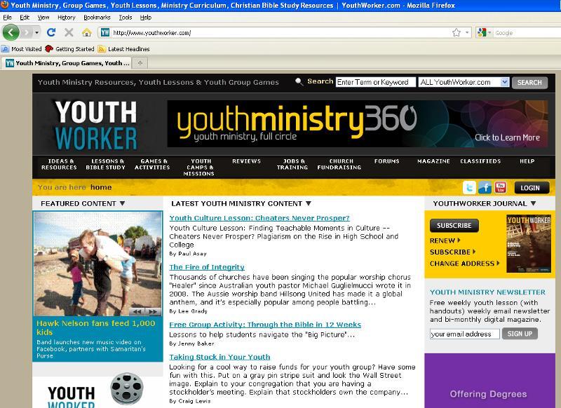 Youthworker Website