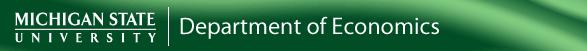 MSU Economics Logo and Hyperlink