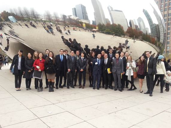 MSU_s Econ Scholars enjoy some free time during their trip to Chicago this November