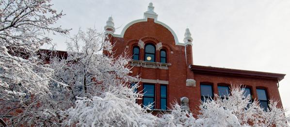 Marshall-Adams Hall winter