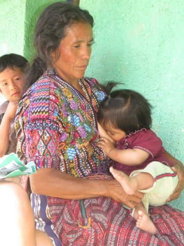 Rural Mayan Women and her baby