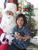 Christmas party with Santa