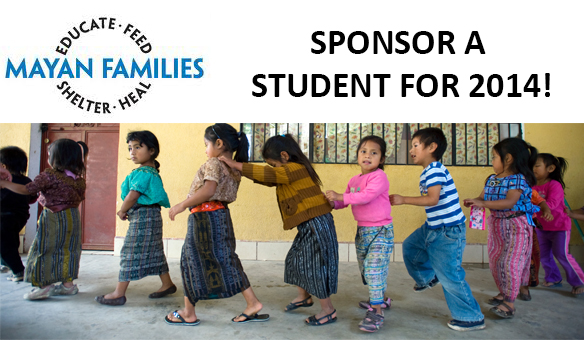 SPONSOR A STUDENT FOR 2014
