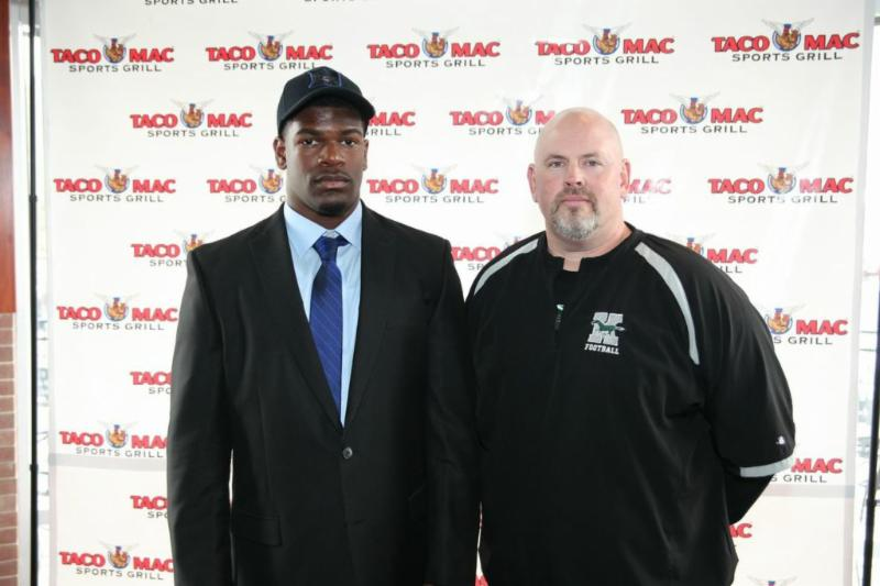 Taariq Shabazz and Kennesaw Mountain head coach Andy Scott