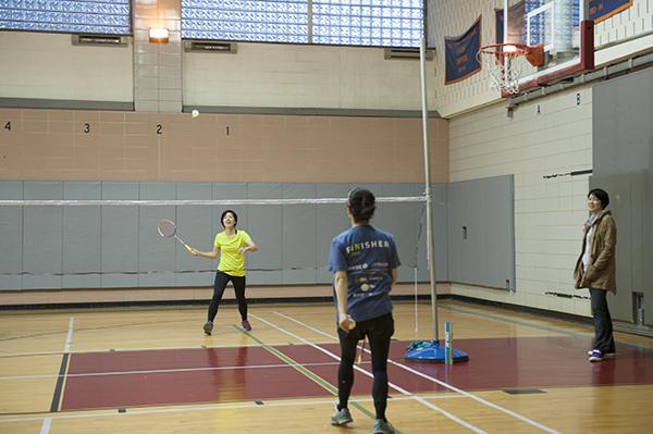 Badminton for Stuyvesant high school swimming pool