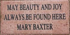 Mary Baxter brick