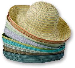 wide ribbon roller hat