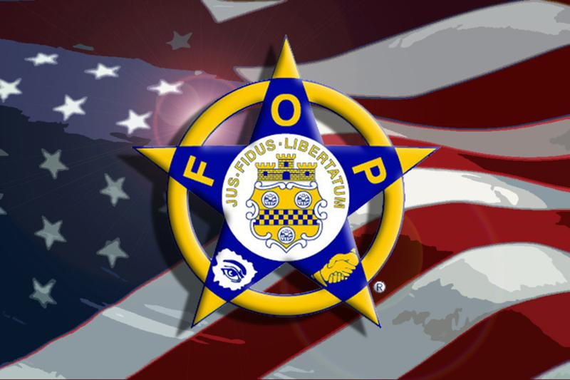 FOP Star with Flag
