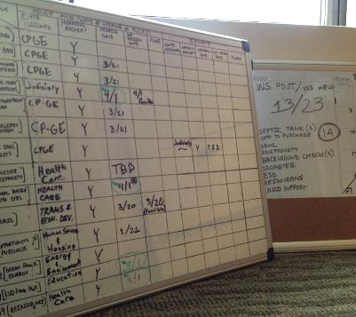 Bill Tracking whiteboard
