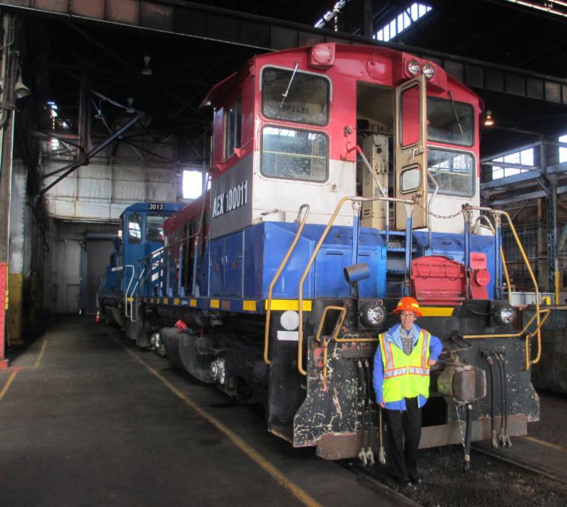 Locomotive at Eugene yard