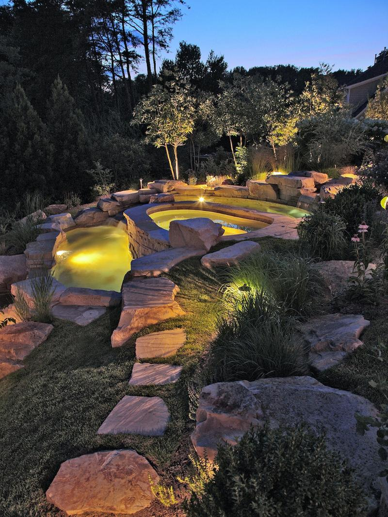 outdoor illumination poolscape
