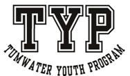 TYP black and white logo
