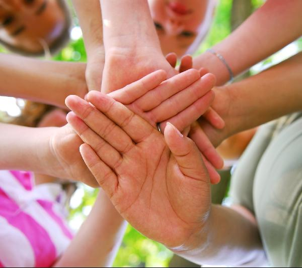 Hands Teaming Picture