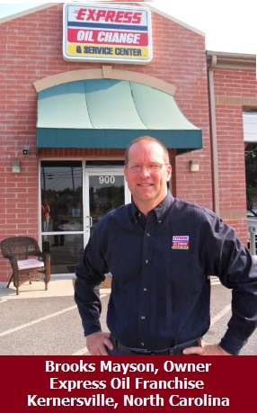 Brooks Mayson, Owner of Kernersville, North Carolina Express Oil Location