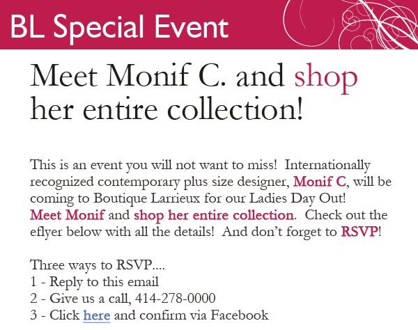 Monif C. Ladies Day Out Invitation!