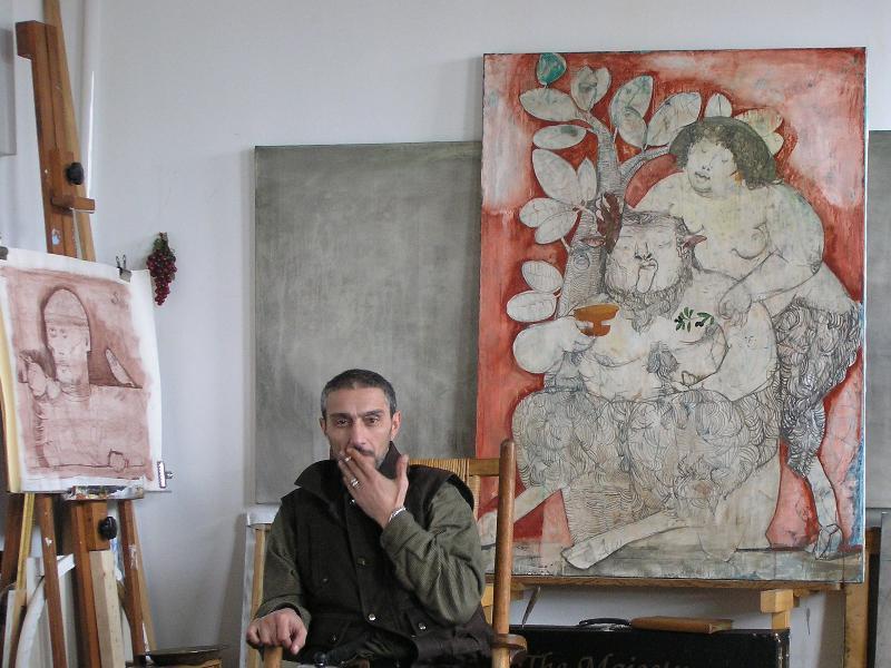 Samuel G in studio