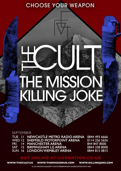 The Cult New UK Tour Admat