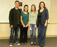 Garth with essay winners in Ft. Collins