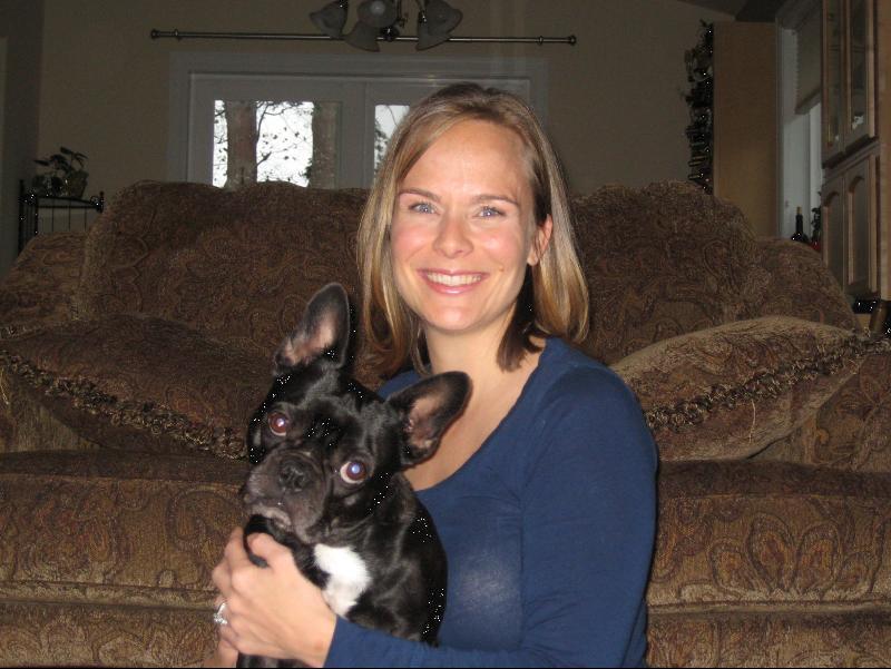 Tara and her dog, Batman.