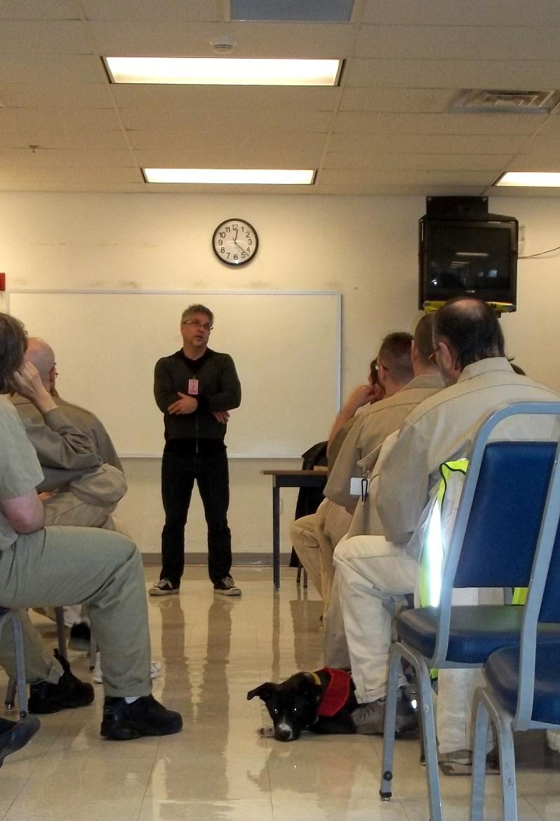 Garth speaks at t the Stafford Creek Corrections Center.