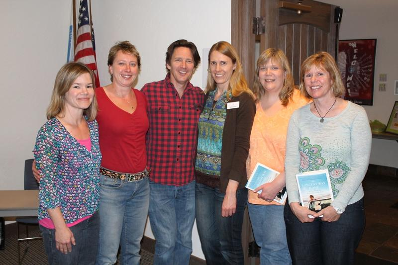 Andrew McCarthy visits with Avon Branch Library Staff