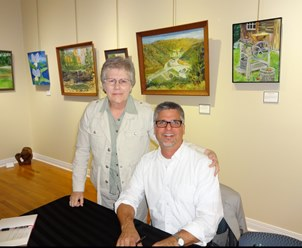 Garth and Cindy Martin at the Lewisburg Literary Festival