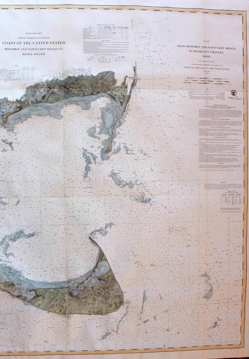 Nautical Chart Nantucket & Monomoy