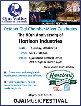 Harrison Ojai Chamber                                             mixer flier