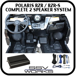 Polaris RZR and RZRS Complete 2 Speaker System