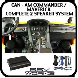 Can Am Commander / Maverick Complete 2 Speaker System