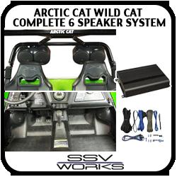 Arctic Cat WildCat Complete 6 Speaker System