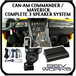 Can Am Commander / Maverick Complete 3 Speaker System
